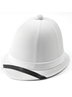 Adult White Pitch Boer War Helmet