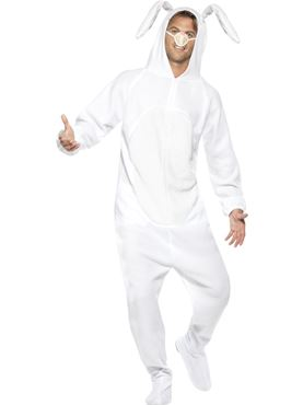 Adult White Rabbit Costume - Back View