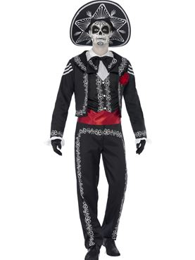 Adult Senor Bones Costume Thumbnail