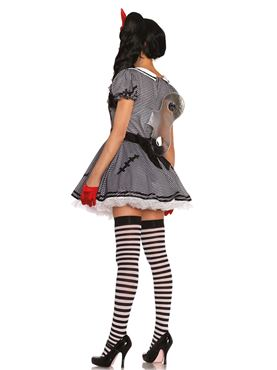 Adult Wind Me Up Dolly Costume - Back View