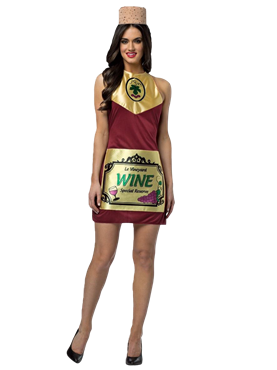 Adult Wine Bottle Dress Costume Couples Costume