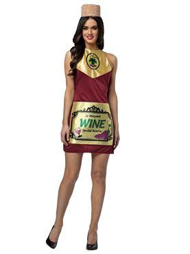 Adult Wine Bottle Dress Costume