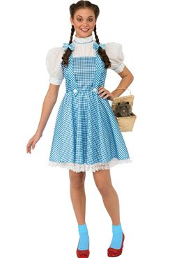 Adult Wizard of Oz Dorothy Costume - Back View