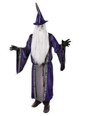 Adult Ghostly Wizard Costume