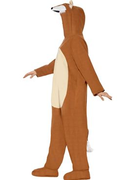 Adult Fox Onesie Costume - Back View