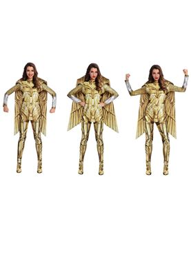 Adult Wonder Woman Gold Hero Costume - Side View