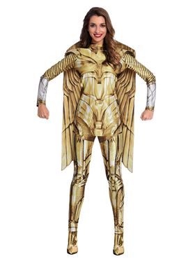 Adult Wonder Woman Gold Hero Costume - Side View