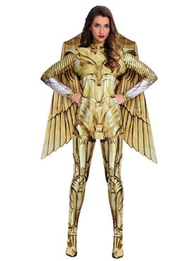 Adult Wonder Woman Gold Hero Costume - Back View