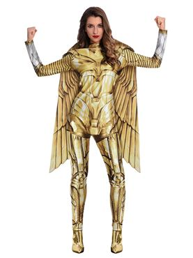 Adult Wonder Woman Gold Hero Costume Couples Costume