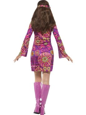 Adult Woodstock Hippie Chick Costume - Side View
