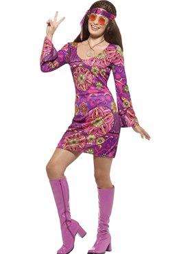 Adult Woodstock Hippie Chick Costume