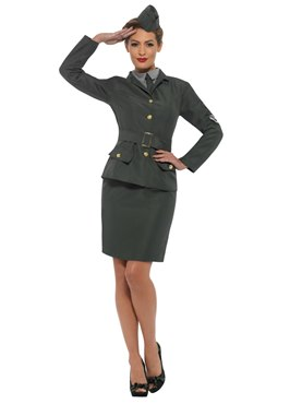 Adult WW2 Army Girl Costume