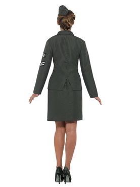 Adult WW2 Army Girl Costume - Side View