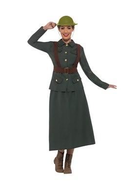 Adult WW2 Army Warden Lady Costume