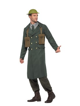 adult ww2 british office costume back view