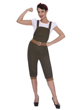 Adult WW2 Land Girl Costume Couples Costume