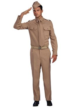 Adult WW2 Private Soldier Costume