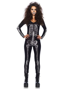 Adult X-Ray Skeleton Catsuit Costume