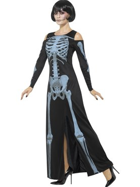 Adult X-Ray Skeleton Costume - Back View