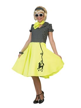 Adult Neon Yellow Poodle Dress Costume
