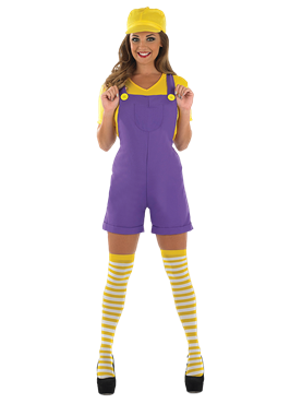 Adult Yellow Sexy Plumbers Mate Girl Costume Couples Costume