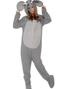 Adult Elephant Onesie Costume Thumbnail