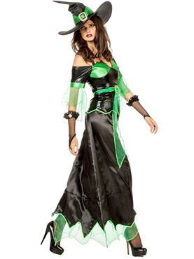 Adult Zelda Witch Costume - Back View  sc 1 st  Fancy Dress Ball & Adult Zelda Witch Costume - 4805 - Fancy Dress Ball