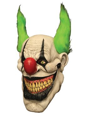 Adult Deluxe Zippo the Clown Latex Mask