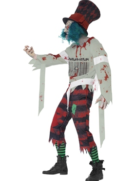 Adult Zombie Hatter Costume - Back View