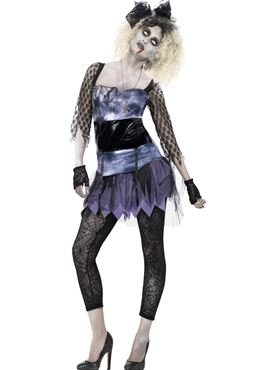Adult Zombie 80s Wild Child Costume