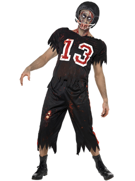 Adult Zombie American Footballer Costume Couples Costume