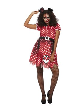 Adult Zombie Apocalypse Mouse Costume - Back View
