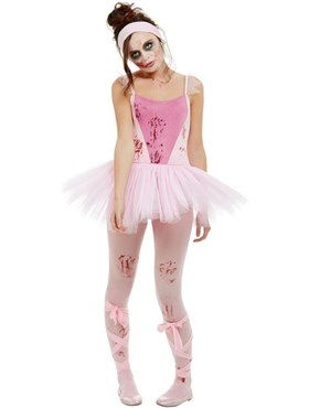 Adult Zombie Ballerina Costume - Back View