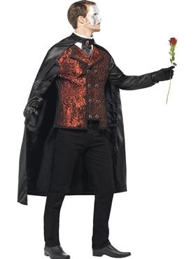 Adult Dark Opera Masquerade Costume - Back View