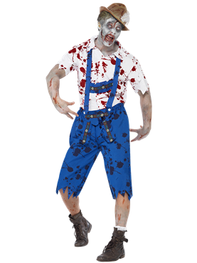 Adult Zombie Bavarian Male Costume Couples Costume