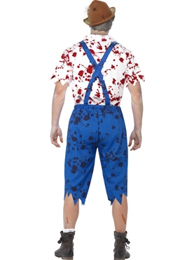 Adult Zombie Bavarian Male Costume - Side View