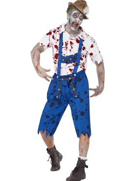 Adult Zombie Bavarian Male Costume