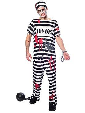 Adult Plus Size Zombie Convict Costume