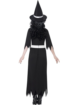 Adult Zombie Salem Witch Costume - Side View