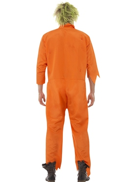 Adult Zombie Death Row Inmate Costume - Side View