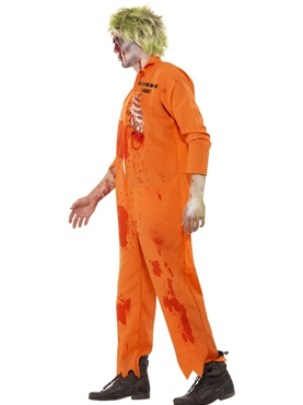 Adult Zombie Death Row Inmate Costume - Back View