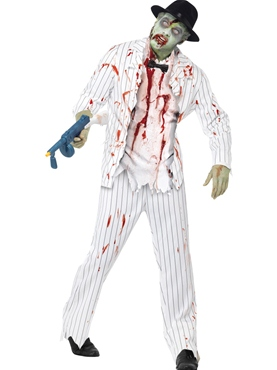 Adult White Zombie Gangster Costume
