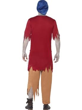 Adult Zombie Dwarf Costume - Side View