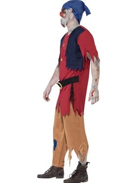 Adult Zombie Dwarf Costume - Back View