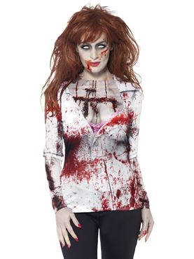 Adult Zombie Female Top Couples Costume