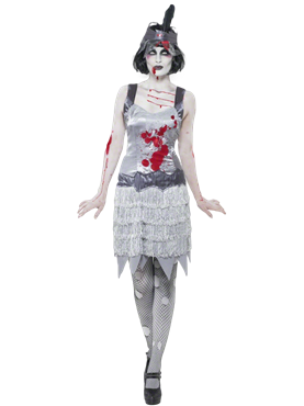 Adult Zombie Flapper Dress Costume Couples Costume