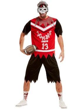 Adult Zombie Footballer Costume