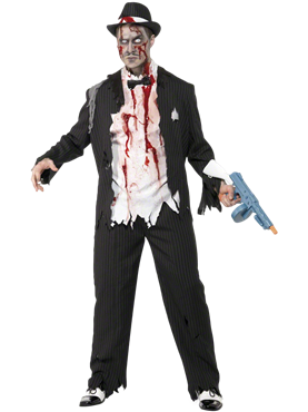 Adult Zombie Gangster Costume Couples Costume