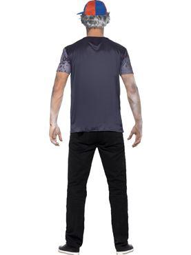 Adult Zombie School Boy T-Shirt Costume - Side View