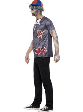 Adult Zombie School Boy T-Shirt Costume - Back View